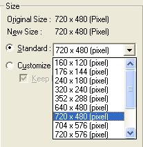 If you want to set your own image size, select Customize and enter the image Width and Height.