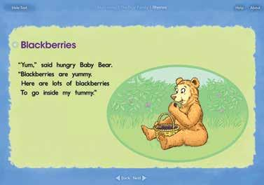 PM Rhymes Little Books Blackberries PM Rhymes Big Book CD-ROM The four PM Rhymes Little Books include all the rhymes that appear in the