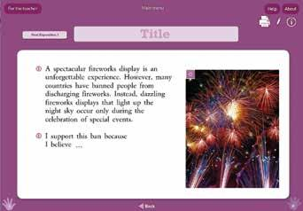 Each page focuses on a single text type, with the text type getting progressively more difficult.