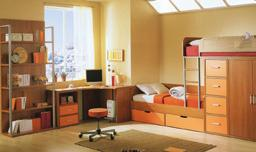 bookcse lrm clock stool rug pillow bunk beds cushion duvet wrdrobe blnket 1b DAILY ROUTINE: KEEPING CLEAN!