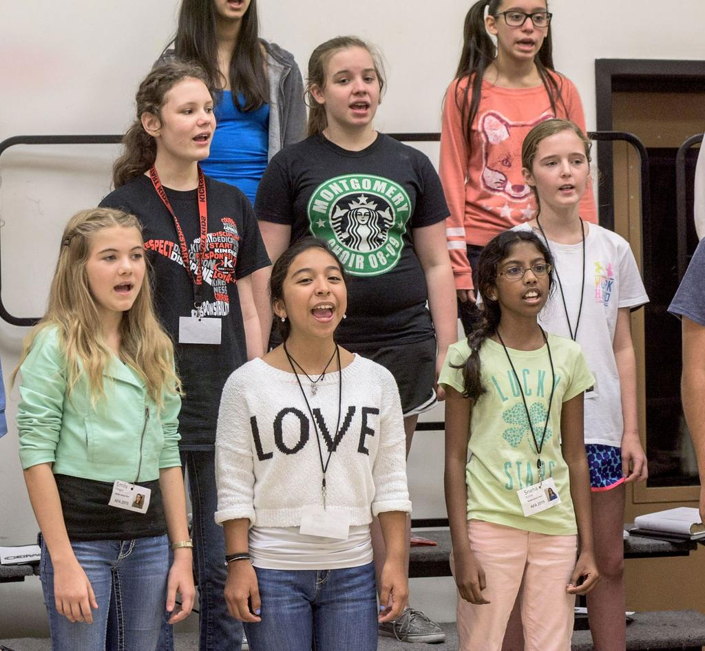 An audition will determine placement into either Houston Girls Chorus (generally grades 7 12) or the Preparatory Choir (generally grades 4 9).