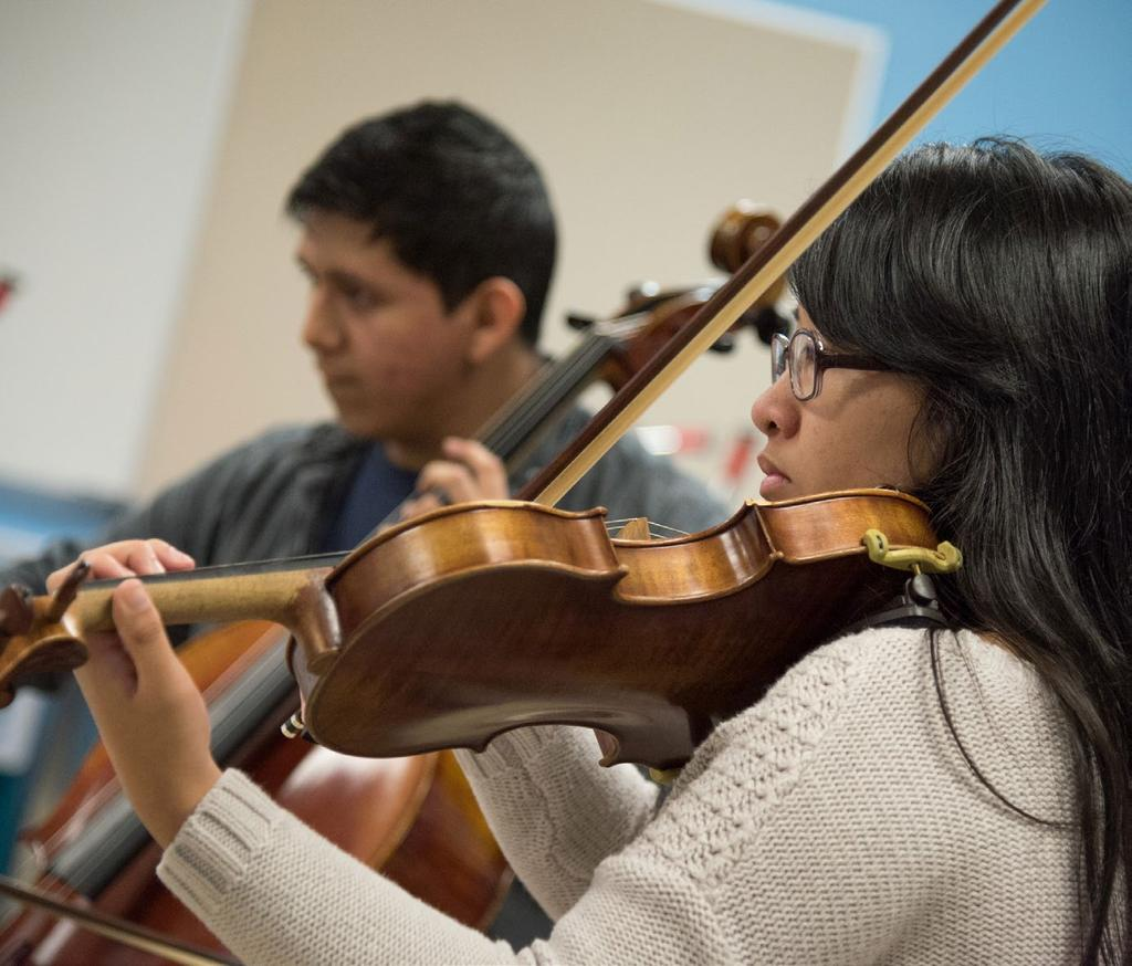 CHAMBER MUSIC ACADEMY CHAMBER MUSIC ACADEMY Activities Students learn and perform in small groups coached by faculty artists; includes music theory and performance practice.