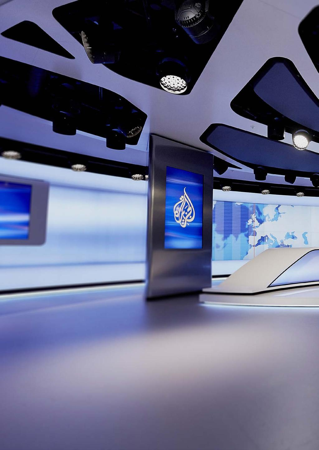 Just a few months after the opening of the studio, Veech x Veech received wide spread recognition for the project Al Jazeera News Studio and Newsroom : Silver award from the International Design