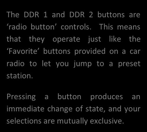 These are essentially Media Player functions, controlling one or another of TriCaster s two DDRs.