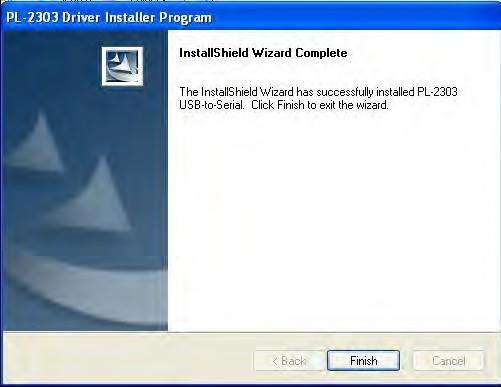 "5. Click ""Finish"" to end ICP Utility installed. Install PL2303_Prolific_Driver 6."
