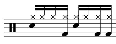 54 Hand-to-Foot Distribution The first measure of the first chorus establishes a Hand-to-Foot Distribution motive for the first three choruses.