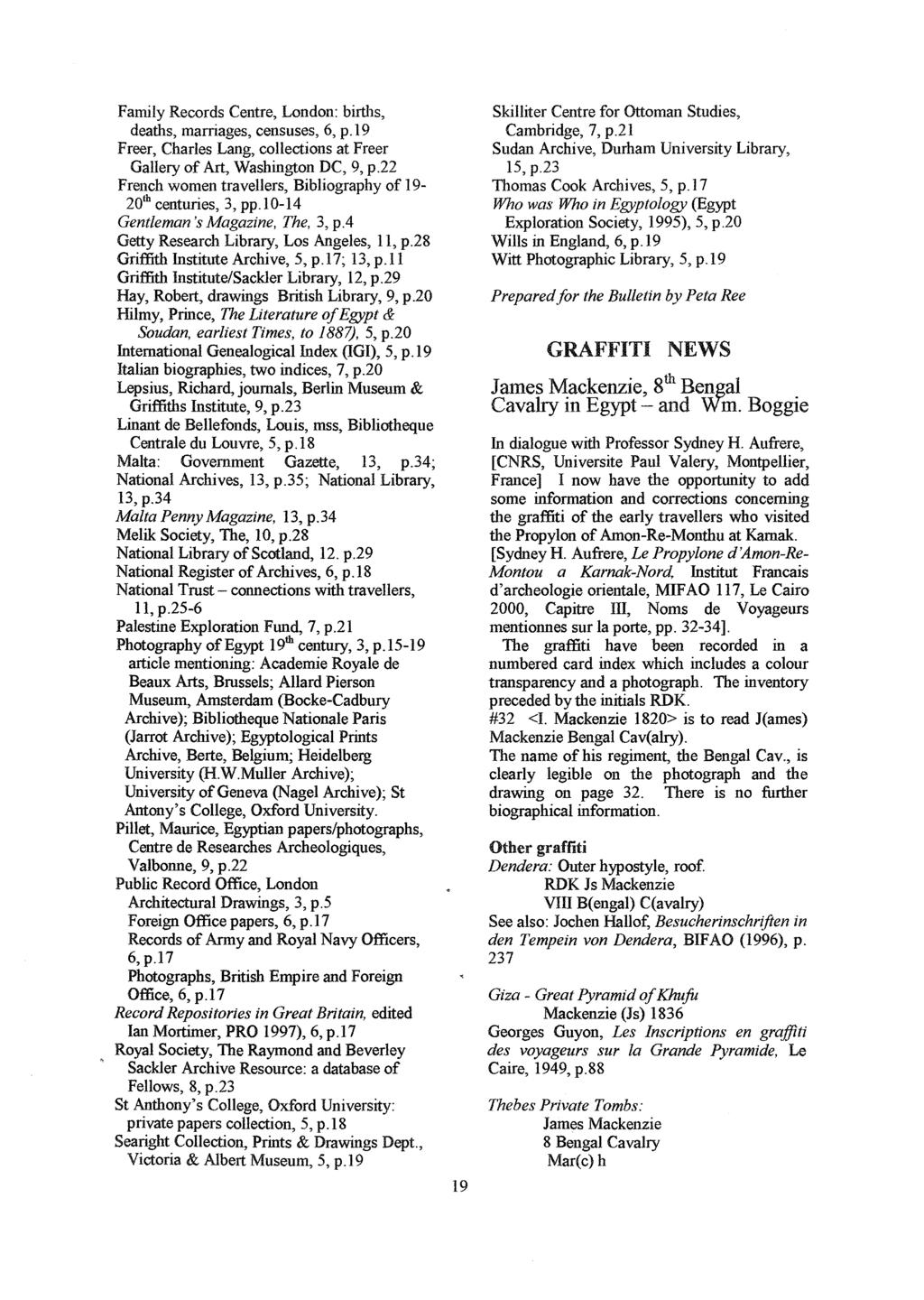 Family Records Centre, London: births, deaths, marriages, censuses, 6, p.19 Freer, Charles Lang, collections at Freer Gallery of Art, Washington DC, 9, p.