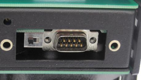 input, 12Vdc output (includes international wall-plug adaptors) Spare switch cover The Operator Interface (see Figure 2) consists of: a push-button, and a Status LED Figure 2 In addition, an internal