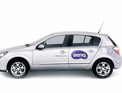 C 04.12 BenQ Corporate Signage Vehicle Livery Colour The vehicle is Silver or White.