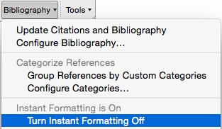 9.2.6 Edit & Manage Citation(s) Use this command to make any changes inside a citation, such as adding page numbers or removing author names from author-date citations. 9.2.7 Instant Formatting Instant formatting provides a constant updating of all citations and the bibliography.