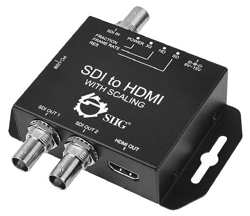 Package Contents 3G-SDI to HDMI Scaler Power adapter (Output: 12V/1A)