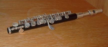 an octave higher than a standard flute Range of three octaves Used for