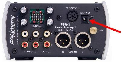 Do not connect the PPA-1's power supply until all audio connections have been made.