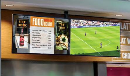messages to fans in the main stand and corporate guests in hospitality suites Enable customers in VIP suites to browse