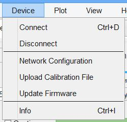 3.2.1.2 Device Device Connect automatically detects available SERIES 7000 devices though LAN or USB. If a connection is already established, it disconnects and opens the dialog as shown in Figure 3.