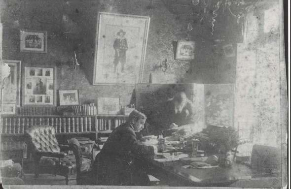 5: George Musgrove, working in his office at the Princess