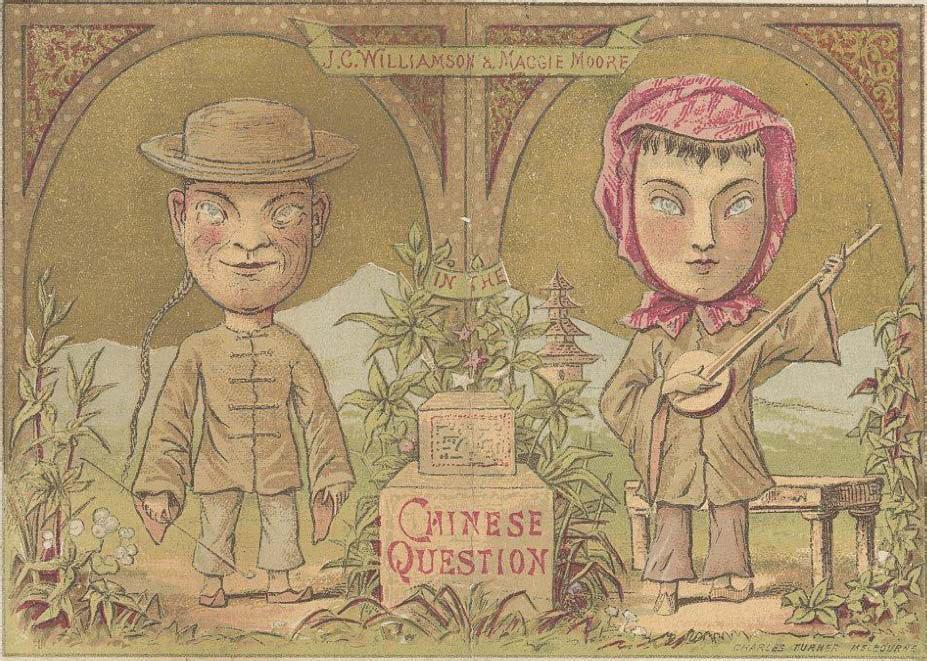 Figure 15.2: J.C. Williamson and Maggie Moore in The Chinese Question, Melbourne 1874. Courtesy of the National Library of Australia [SR 782.14 S388].