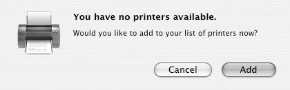 22 Setting Up Client Systems 7. Open the Mac OS X Print Center (OS X 10.2.x) or Printer Setup Utility (OS X 10.