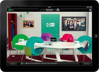 Second screen applications France Télévisions also launched contextual applications allowing viewers to interact with a live programme directly from their mobile or tablet (via social networks for