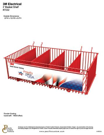 5 H This versatile 2 ft basket shelf can be used for
