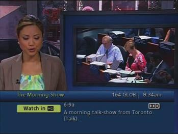 5.2.2 FLIP BAR The Flip Bar allows you to see program information as you change channels.