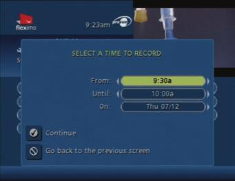 8.2.3 SETTING A RECORDING MANUALLY Lastly, you can set a recording manually for a specific time and channel. From the Main Menu or Quick Menu, select DVR and then Record.