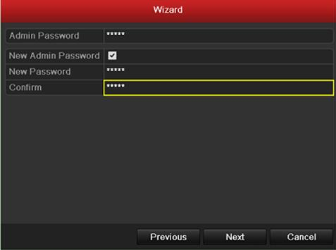 2. Click Next button on the Wizard window to enter the Login window. Login Window 3. Enter the admin password.