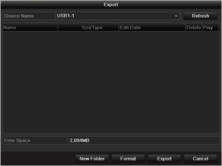 Quick Export using USB1-1 3.