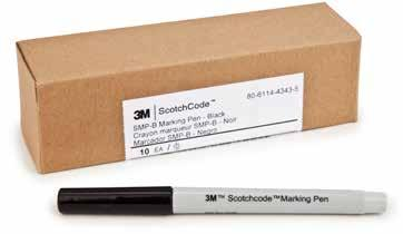 Write-On Area A B C Specifications and Ordering Information for 3M ScotchCode Write-On Wire Marker Books SWB Product UPC Labels Per Write-On Area Marker Size Recommended Inner Case Number (054007-)
