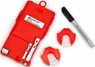 A built-in blade quickly and neatly cuts the marker. The STD- TAG dispenser is refillable. The tags are available in two sizes.