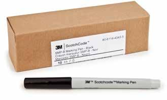3M ScotchCode Marker Pens SMP 3M ScotchCode Marking Pens SMP are suggested for use with ScotchCode write-on products.