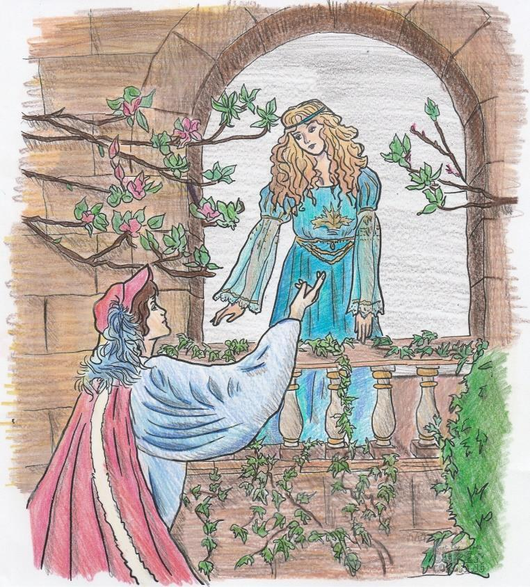 Romeo decides to risk his life and sneaks to Juliet s bedroom window to speak with her.