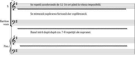 Artes. Journal of Musicology The musical text is noted in a 2/4 meter, with an agogic in constant motion and the trochaic rhythm alternating with tuplets, configured in a rhythmic ostinato.