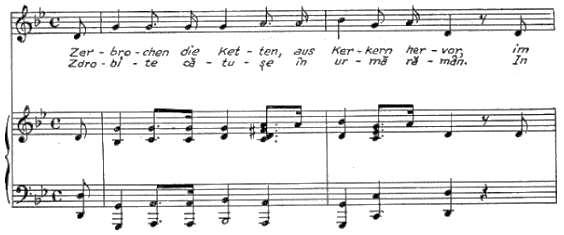 Studies the Royal Anthem, with lyrics by Vasile Alecsandri, its tempo became much slower, as hymn tempo. (Poslușnicu, 1928, p.