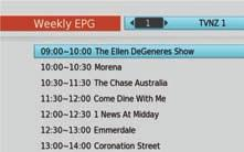 MAIN MENU: Main Menu EPG (Weekly EPG) In addition to the the Freeview MHEG EPG, you can access the