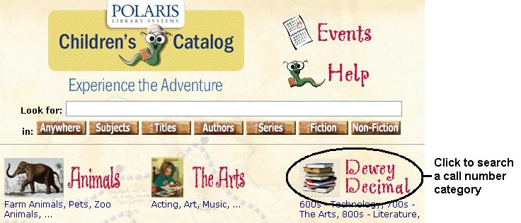 16 Searching Polaris PowerPAC Children s Edition Guide 4.1 Searching Call Numbers Your library may show a category for Dewey Decimal searching.