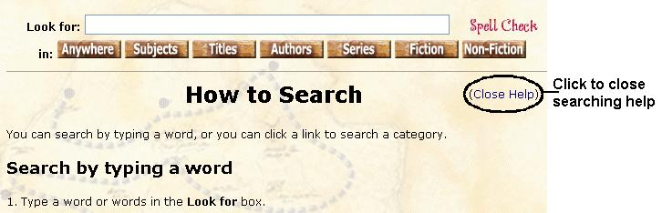 Get quick help with searching Follow these steps to get quick help with searching. 1.
