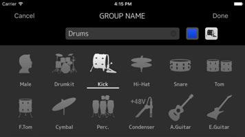 The screen for entering a group name