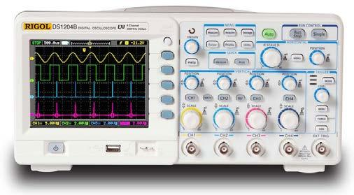 RIGOL Data Sheet Product Overview DS1000B series oscilloscopes are designed with four analog channels and 1 external trigger channel, which can capture multi-channel signal simultaneously and meet
