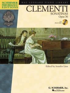 9 CLEMENTI: SONATINAS, Opus 36 edited by Jennifer Linn Muzio Clementi is best known for this set of six Sonatinas, Opus 36.
