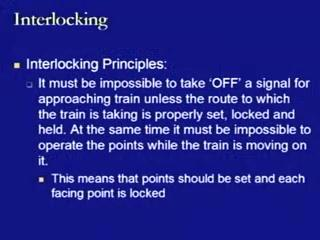 divergence or convergence to the main track by providing the opportunities of the directional movement of trains.