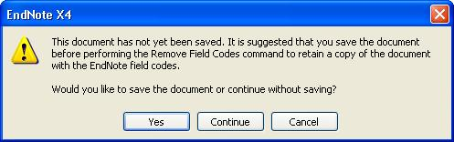 You should also remove the field codes if you want to open your paper in different versions of Word. Open your formatted Word document.