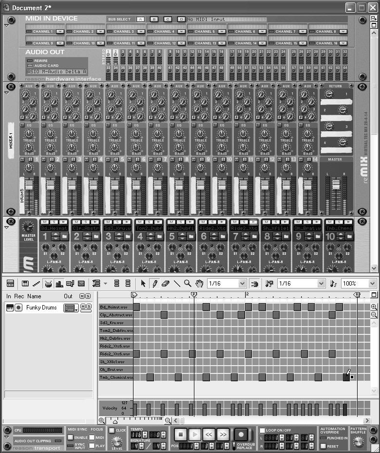Reason Overview Write a music track. Create your first instrument; then move to the Sequencer window to write and edit the instrument s part (discussed in Chapter 4).