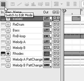 Chapter 3 The Sequencer Edit Mode Edit mode is where you get in close and tell an instrument what to play.
