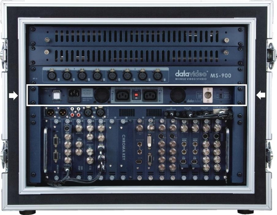 PD-1 in MS-900 Mobile Studio Example Datavideo Product Voltage Requirements This table is a guideline for Datavideo Products, if you are using products from other manufacturers please check their