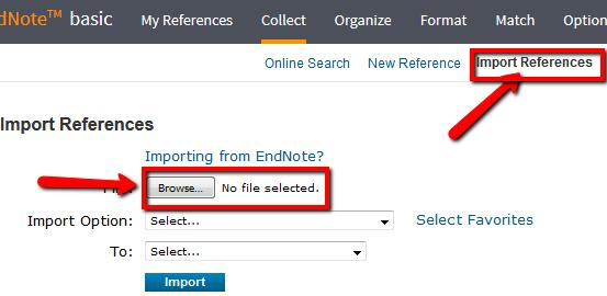 Figure 4.6 8. Citations from Google Scholar must be imported into EndNote. Log in to EndNote.