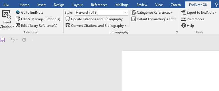 instant formatting is on, you may notice that adding each new citation causes Word to pause while EndNote updates all the citations in the document: switching off instant formatting stops this from