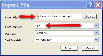 Import button to add to the library To create hyperlinks between in text citations and related references in the bibliography: 1) Click on Bibliography under the