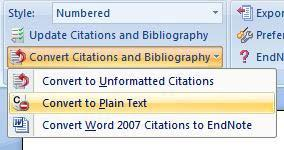 To correct the reference in your Word document, click on the Update Citations and Bibliography button on the ribbon. EndNote will format the references again and the bibliography will be corrected. g.
