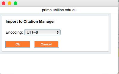 Tick the items you want to add to your EndNote library, click on